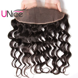 UNice Hair Brazilian Natural Wave Lace Frontal Ear to Ear 13X4 Frontal 100% Human Hair Free Part Natural Color Unprocessed Hair Lace Closure