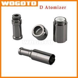 Wholesale D Generation Atomizer Dual coil Skillet Ceramic stencil Coils metal drip tip wax Dry Herb atomizer vaporizer VS TFV4 MINI Tank