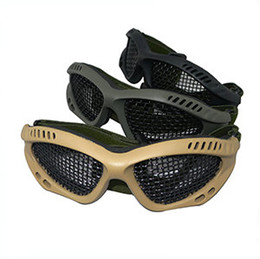 Wholesale square holes mesh goggles no fogging Airsoft Outdoor Sport Glasses Net CS Game Protective Tactical Military Eyewear