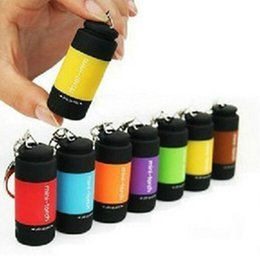 Mini Keychain Pocket Torch USB Rechargeable LED Light  Lamp 0.3W 25Lm Multicolor Mini-Torch Brand new