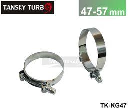 Wholesale Tansky Pair unit High performance MM MM SILICONE TURBO HOSE COUPLER T BOLT SUPER CLAMP KIT TK KG47