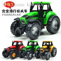 Wholesale Small boy girl kids scale diecast model toy child mini Model atv vehicle locomotive brinquedos toy atv Farmer car
