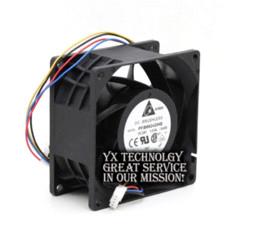 Wholesale Large 24v Fans - Large wind original PFB0824DHE 24V 8cm 1.63A four-wire PWM inverter fan for Delta 80*80*38MM inverter hp