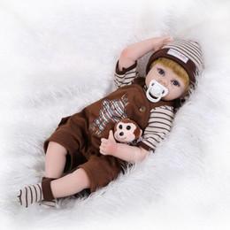 Compra Online Muñecas del bjd-Reborn bebé muñeca de silicona suave 22inch los 55cm boca magnética lindo juguete lindo muchacho deportes muñeca