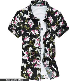 Wholesale-mens shirts 2016 Slimming shirt men newest style floral shirt short sleeve sexy silk cotton shirts men's clothing