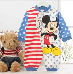 Wholesale 2015HOT seal Comfortable Skin friendly Cotton Baby Coveralls Crawling Baby Clothes Cute Baby Clothes Cartoon Boxer Romper N009