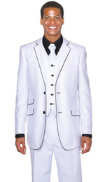 Handsome Classic Groom Tuxedos Notch Lapel Best man Suit White Groomsman Bridegroom Wedding Prom Suits ((Jacket+Pants+Vest) ---q146