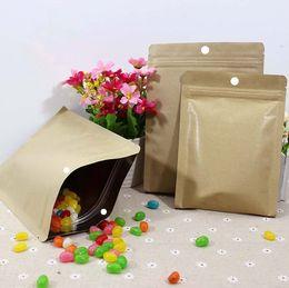 Wholesale High grade Thicken Kraft Paper Ziplock Bag Moistureproof Compound Aluminum Foil Bone Food Packaging Bags