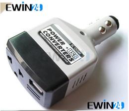 Promotion 12v ac chargeur Car Chargeur USB Power Inverter adaptateur 12V / 14V à 220V DC Pour 5pcs AC Converter plug