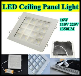 Wholesale Grid Square W LED Panel Light cut out mm for Stores Office Families Lamp High Power LED Ceiling Panel Light LM Years Warranty