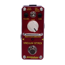 Wholesale New AROMA AVS VACUUM STACK Valve Stack Simulator Distortion Mini Analogue Effect True Bypass
