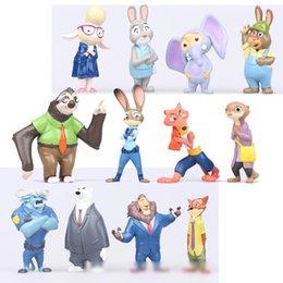 PrettyBaby Movie zootopia 12pcs Cartoon Utopia Action Figure set Movie Pvc Mini Models Nick Fox Judy Rabbit free shipping