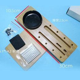 Wholesale EDC15 Office desktop receive rack phone pencil box tray storyboard hard wood a variety of purposes