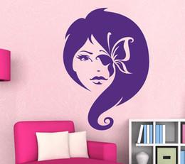 Girl Butterfly Fairy Wall Decal Vinyl Sticker Mural Nursery Girls Room Decor