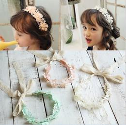 Lace Girls Princess Headbands Sweet Bowknot Kids Hair Bands Flower Bow Children Hair Accessories Pretty Headbands Multicolor Band H086