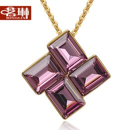 Wholesale Ming Lin elemental rotating crystal crystal necklace female short paragraph clavicle Korean Austria Fashion