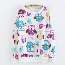 Wholesale Bird Banana Cat Print Cute Thin Cotton Hoodies For Women Sport Suit Active Autumn Winter Pullovers Sweatshirts Women s