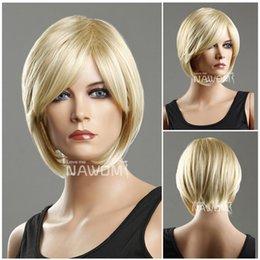 Wholesale hot women hair wigsyoung girls wig short blond wigs for women kanekalon ladies wig A5394