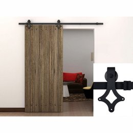 Wholesale 5 FT Country Sliding Wood Barn Door Hardware Interior Antique Single Closet Track Kit American Style