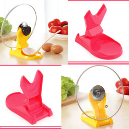 Wholesale New Spoon Pot Lids Shelf Cooking Storage Kitchen Decor Tool Stand Holder kitchen tool accessories Freeshipping
