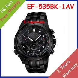 Wholesale New EF BK AV Men s Watch Chronograph Sport BK Stainless Steel Gents All Black Dial Wristwatch EF BK A Original Box