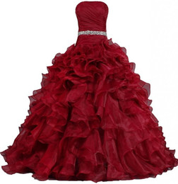 2015 NewSimple Bling BlingBlack Red Quinceanera Dresses Ball Gown With Beading Crystals Lace Up Dress For 15 Years Debutante Downs QS130