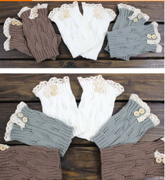 2015 Lace button Boot Cuffs knit boot topper lace trim faux legwarmers - lace cuff - shark tank leg warmers 9 colors #3739