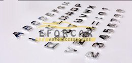 Wholesale Hot Sale Easy install Chrome Alphabet Letters Auto Emblems Number badges D decal For Car Bike