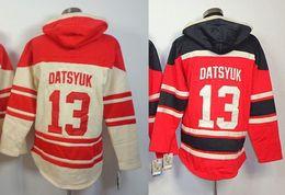 2016 New, Detroit Ice Hockey Jersey #13 Pavel Datsyuk Jerseys Old Time Hockey Hoodie Men's stiched Hoodies Hockey Jersey Sweatshi