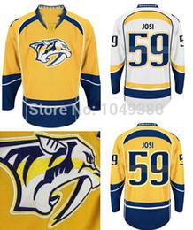 Men's Nashville Predators #59 Roman Josi Jersey Home Yellow Road White Alternate Navy Blue Cheap Wholesale Ice Hockey Jerseys