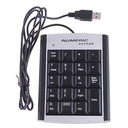 Wholesale 19 Keys Wired USB Number Keyboard Numeric Keypad C1096
