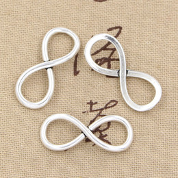 100pcs Charms infinity link 30*12mm Antique,Zinc alloy pendant fit,Vintage Tibetan Silver,DIY for bracelet necklace