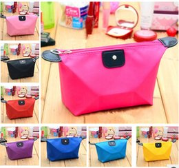 Wholesale New candy Cute Women s Lady Travel Makeup Bags Cosmetic Bag Pouch Clutch Handbag Casual Purses Dumpling type cosmetic gift purse DHL