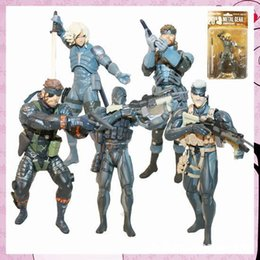 Wholesale set Game Toys Metal Gear Solid Action Figure Solid Snake PVC Figure Toys Dolls set of High Quality Gift MM029