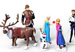 Wholesale Elsa anna princess Piece PVC action Figure Play Set Anna Elsa Hans Kristoff Sven Olaf kid s gift toy