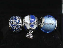 DIY Jewelry Sets 925 Sterling Silver Core Charm and Murano Glass Bead Set Fits European Pandora Jewelry Charm Bracelets & Necklaces-HJ006