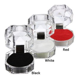 Ring Earrings Casket Trinket Crystal Transparent Jewelry Boxes Gift Wedding Bow Paper Box Bag Packing Case Holder 30pcs  lot  color