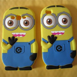 Wholesale Skin Galaxy Duos - 3D Minions Soft Case For Galaxy S Duos S7562 Grand Prime G530 Core 2 G355H G355 ME2 Huawei P8 Lite Despicable Me Cute Cartoon Skin Cover