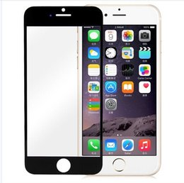 Wholesale Screen Tempered Glass Lens - For iphone 6 lens Front outer Glass tempered lens Screen Replacement For iPhone 6 4.7inch Black White