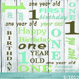 5*6.5FT Custom Children Backgrounds Photography Backdrops One Birthday Fotografia Backgrounds Vinyl Backdrops For Photography Wholesale