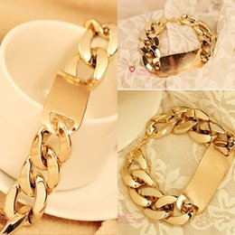 Wholesale Fashion Tradition Chain High quality Top Sale Gold Noble fashion charm Bracelet For Women And Men