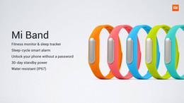 Mi bracelet de bande à vendre-Original Xiao mi MI bande poignet Bracelet MiBand Bluetooth IP67 étanche Smart Wristbands Bracelet pour Android 4.4 Téléphones 10pcs MI3 MI4 gratuit