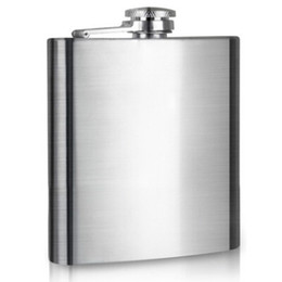 Wholesale 7oz Portable Stainless Steel Hip Flasks Whiskey Wine Bottle Pocket Liquor Russian Flagon Travel Outdoor Mini Funnel Flask