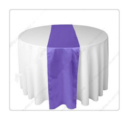 Wholesale piece gadbury purple table runners For Wedding chemin de table argent