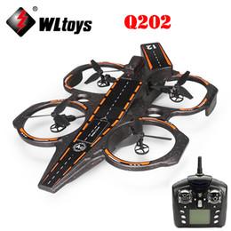 Wholesale WLtoys Q202 CH Axis GHz Aircraft Carrier Shape Air Sea Amphibious RC Quadcopter RTF