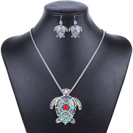 Wholesale MS1504255 Fashion Jewelry Sets High Quality Gold Plated Beads Multicolor Sea turtle Design Woman s Necklace Set Wedding Jewelry