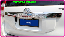 Free shipping! High quality ABS chrome rear trunk trim,rear trunk streamer with logo for TOYOTA Land Cruiser Prado 2014