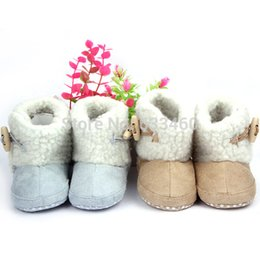 Wholesale Hot Baby Boys Girls Winter Snow Boots Infant Anti Slip Cotton Toddler Shoes