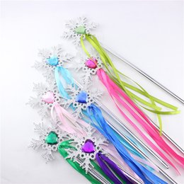 frozen magic wand princess fairy wands Christmas gift Fairy Wand ribbons streamers snowflake wand free shipping in stock