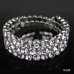 Wholesale 2015 New Row Rhinestone Crystal Women Lady Girl Prom Cockatil Pub Bangle Bracelet Wedding Party Bridal Jewelry Bling Bling
